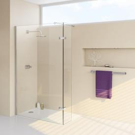 HÜPPE Enjoy elegance partially framed Walk In side panel with moving segment TSG clear / chrome