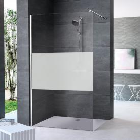 HÜPPE Enjoy pure partially framed standalone side panel TSG privatima with ANTI-PLAQUE / chrome