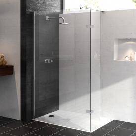 HÜPPE Enjoy pure partially framed Walk-In side panel with moving segment TSG clear / chrome