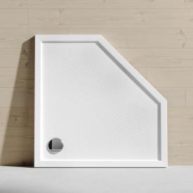 HÜPPE Purano Receveur de douche pentagonal, avec revêtement antidérapant blanc, avec revêtement antidérapant