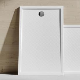 HÜPPE Purano Receveur de douche rectangulaire, avec revêtement antidérapant blanc, avec revêtement antidérapant