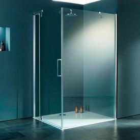 Hüppe Refresh pure rectangular side panel for swing door clear glass with ANTI-PLAQUE / shiny chrome