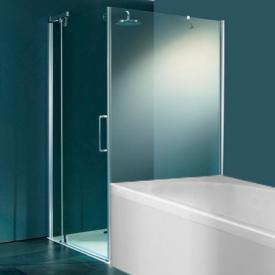 HÜPPE Refresh pure side panel for quadrant swing door clear glass / titan silver