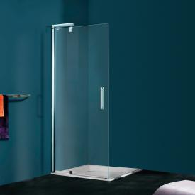 HÜPPE Refresh pure rectangular swing door for side panel clear glass with ANTI-PLAQUE / titan silver