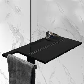HÜPPE Select+ shower board, clamped black edition