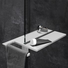 HÜPPE Select+ shower board, clamped matt silver