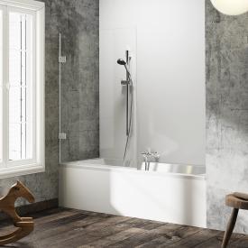HÜPPE Solva pure frameless bath screen 1 piece TSG clear / chrome