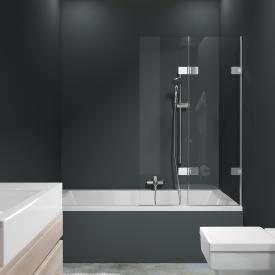 HÜPPE Solva pure frameless bath screen folding swing door TSG clear / chrome