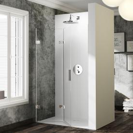 HÜPPE Solva pure frameless folding swing door in recess TSG clear / chrome