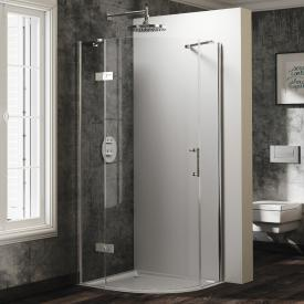 HÜPPE Solva pure partially framed quadrant swing door with fixed segments 1 wing TSG clear / chrome