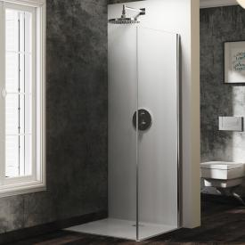 Hüppe Solva pure partially framed side panel for door with fixed segment TSG clear with TIMELESS / chrome