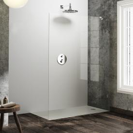 HÜPPE Solva pure frameless side panel, freestanding TSG clear / chrome