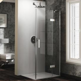 HÜPPE Solva pure partially framed swing door with fixed segment for side panel TSG clear / chrome