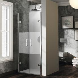 HÜPPE Solva pure partially framed two-way door in recess TSG privatima with ANTI-PLAQUE / chrome