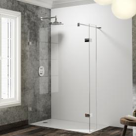 Hüppe Solva pure frameless Walk In side panel with movable segment TSG clear / chrome