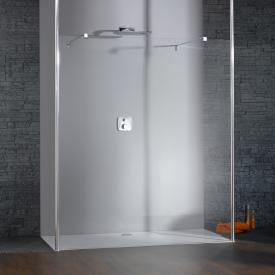 HÜPPE Studio Berlin pure side panel free-standing clear glass with ANTI-PLAQUE / shiny chrome