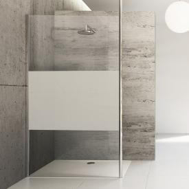 HÜPPE Studio Berlin pure partially framed, standalone side panel TSG privatima with ANTI-PLAQUE / chrome