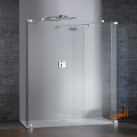 HÜPPE Studio Berlin pure Walk In Model 1 W: 120-180 H: 120-200 D: 30-60 cm clear glass with ANTI-PLAQUE / shiny chrome