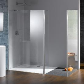 HÜPPE Studio Berlin pure Walk In model 2 clear glass with ANTI-PLAQUE / shiny chrome