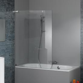 HÜPPE Studio Paris elegance bath screen 1 piece clear glass with ANTI-PLAQUE / shiny chrome