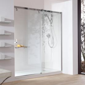 HÜPPE Vista pure partially framed sliding door 1 part with fixed segment in recess TSG clear with ANTI-PLAQUE / chrome