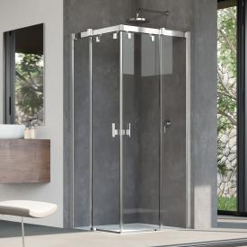 HÜPPE Vista pure partially framed sliding door corner entry TSG clear / chrome