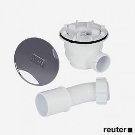 Hüppe waste set Ø 90 mm and round waste cover, complete set