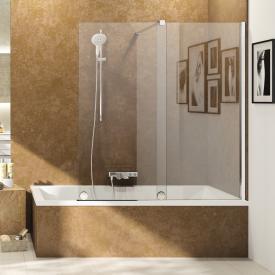 HÜPPE Xtensa pure bath screen sliding door 1 piece with fixed segment TSG clear / silver high gloss