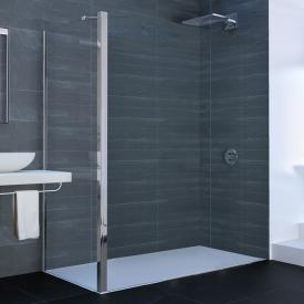 Hüppe Xtensa pure side panel for sliding door 1 piece with fixed segment and adjacent piece TSG clear / silver high gloss