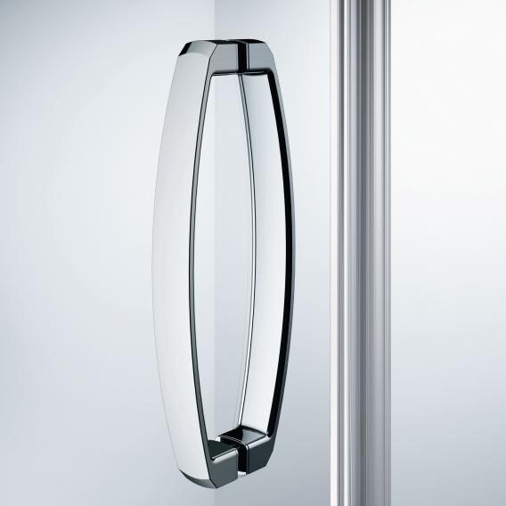 HÜPPE Aura elegance swing door with fixed segment for side panel/corner entry TSG clear / chrome