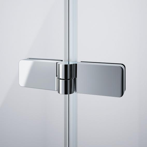 HÜPPE Design pure bath screen folding swing door TSG clear without ANTI-PLAQUE / chrome
