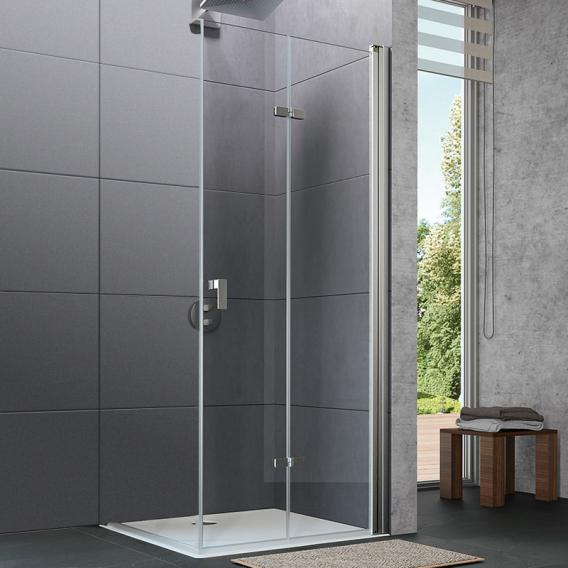 HÜPPE Design pure folding swing door TSG clear with ANTI-PLAQUE / chrome