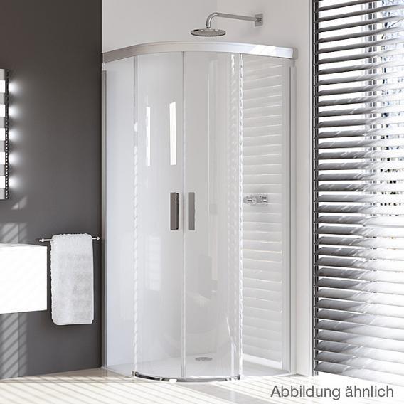 HÜPPE Design pure quadrant sliding door TSG clear / matt silver