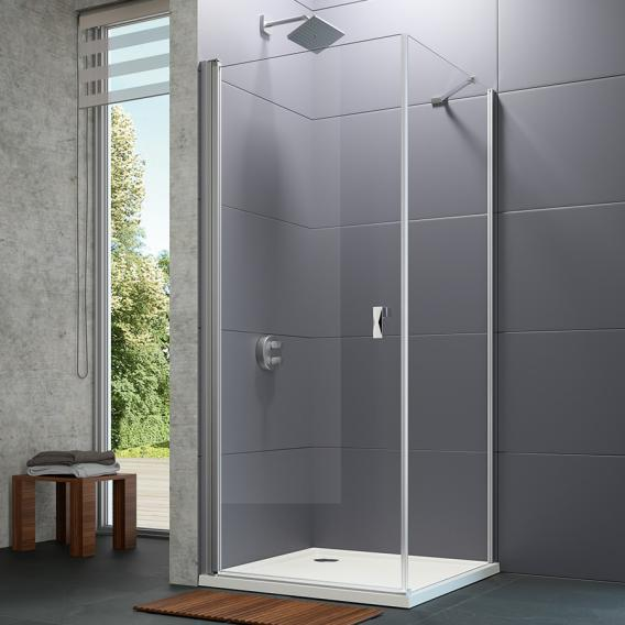 HÜPPE Design pure side panel for swing door TSG clear with ANTI-PLAQUE / matt silver