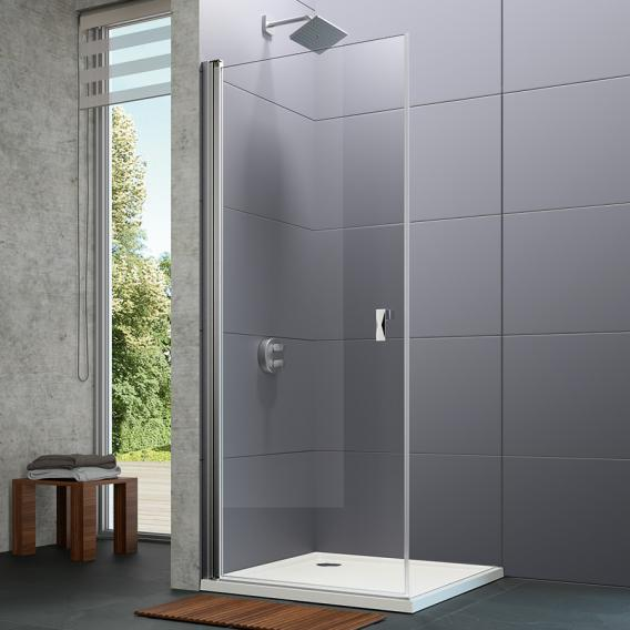 Hüppe Design pure swing door TSG clear with ANTI-PLAQUE / chrome