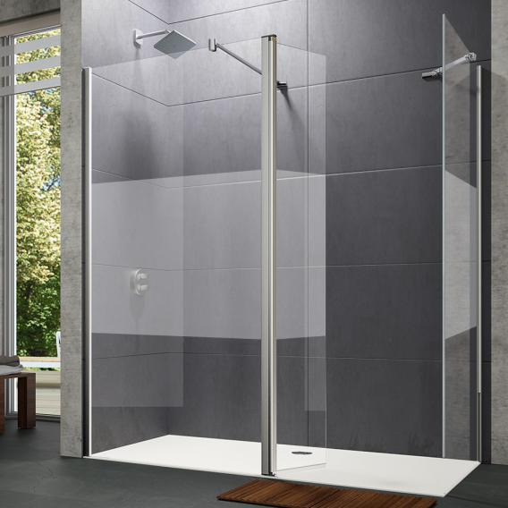 Hüppe Design pure walk-in side panel with movable segment TSG privatima with ANTI-PLAQUE / chrome