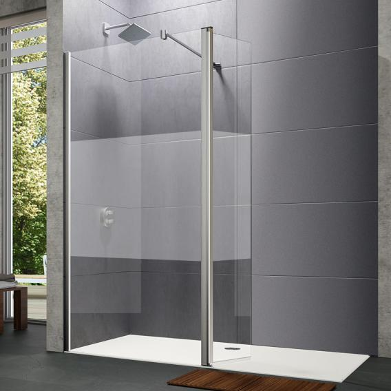 HÜPPE Design pure walk-in side panel with movable segment TSG privatima with ANTI-PLAQUE / chrome