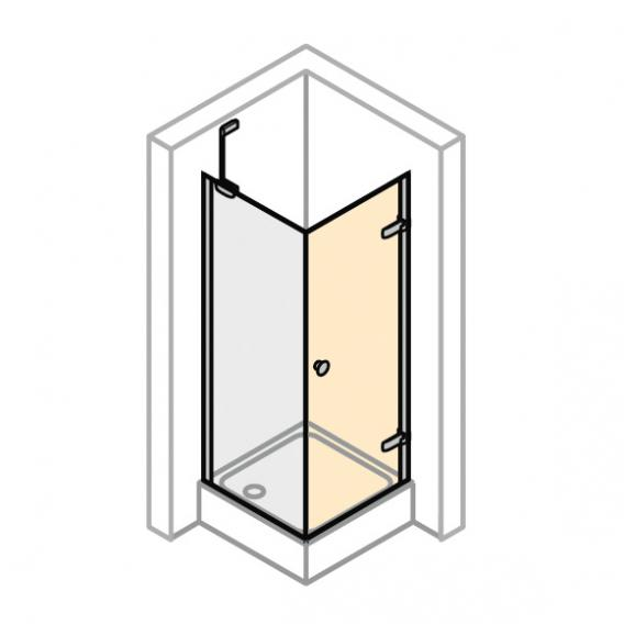 Hüppe Enjoy elegance partially framed swing door for side panel TSG clear with ANTI-PLAQUE / chrome