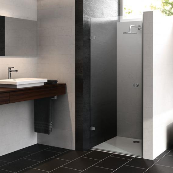 HÜPPE Enjoy pure frameless swing door in recess TSG clear / chrome