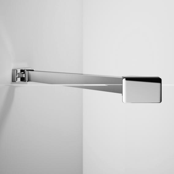 Hüppe Xtensa pure side panel for sliding door 2 piece with 2 fixed segments TSG clear with ANTI-PLAQUE / silver high gloss