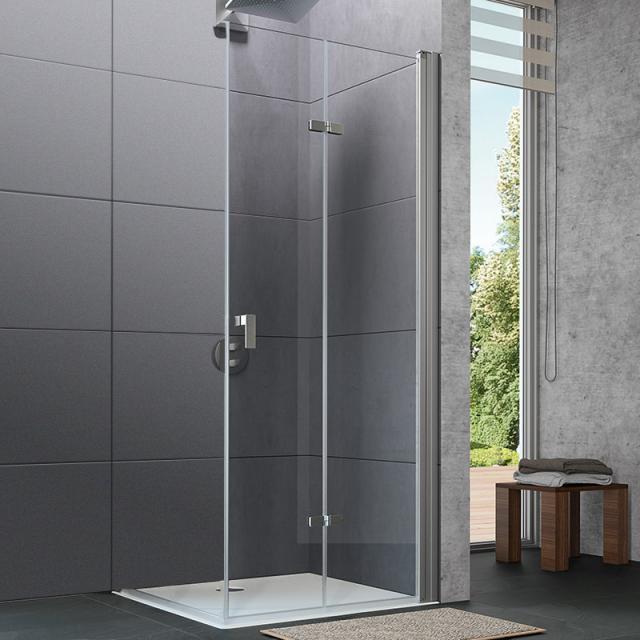 HÜPPE Design pure bi-fold door TSG clear / matt silver