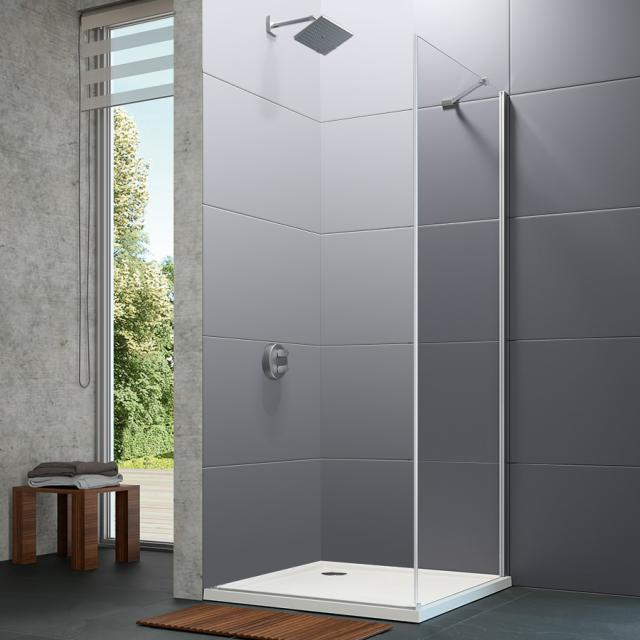 HÜPPE Design pure side panel for swing door TSG clear / silver high gloss