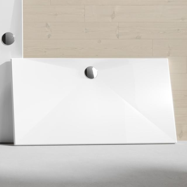 HÜPPE EasyStep square/rectangular shower tray white, with EasyProtect