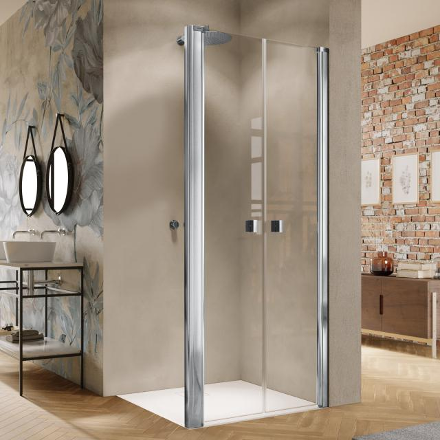 HÜPPE Solva two-way door for side panel TSG clear / silver high gloss