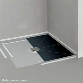 poresta systems BF KMK shower element, centred drain, square/rectangular