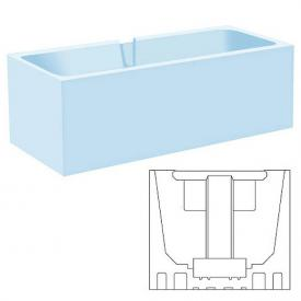poresta systems Poresta Compact bath support, Kaldewei Asymmetric Duo L: 180 W: 90 cm