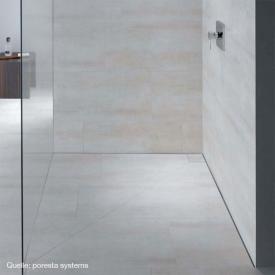 poresta systems Slot shower element horizontal drain, with tile profile 1.2 cm