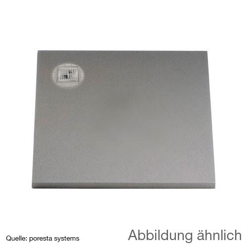 poresta systems BF KMK shower element, off-centre drain, square