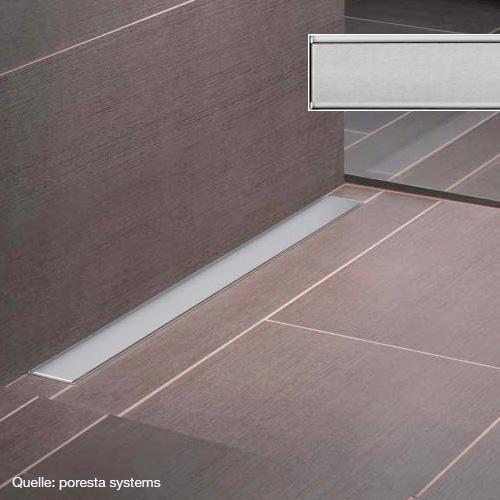 poresta systems grate for shower channel design E