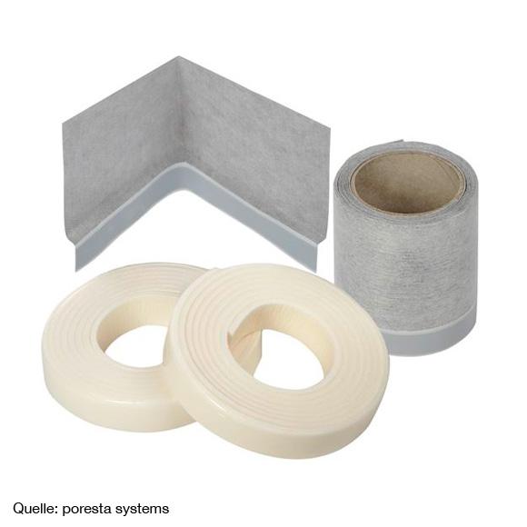 Poresta 3D bath or shower tray sealing set 3 m sealing set